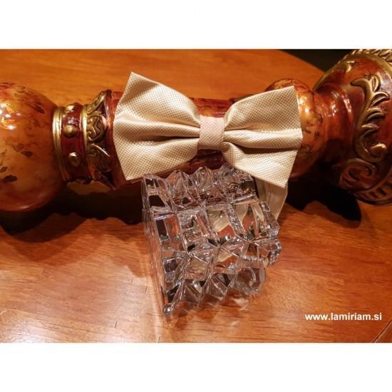 Moški metuljček šampanjec-bež elegant M103
