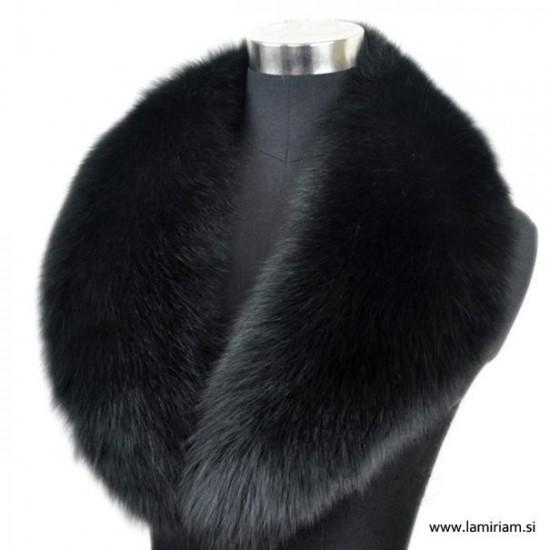 Krzneni ovratnik črna lisica K101 Modni krzneni šali in kape