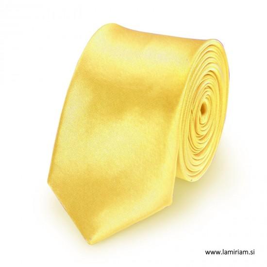 Moška kravata citronsko-rumena KR100