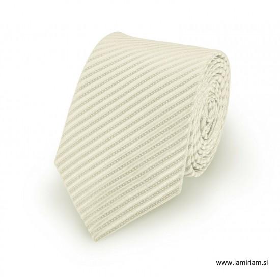 Moška kravata bela črte KR101