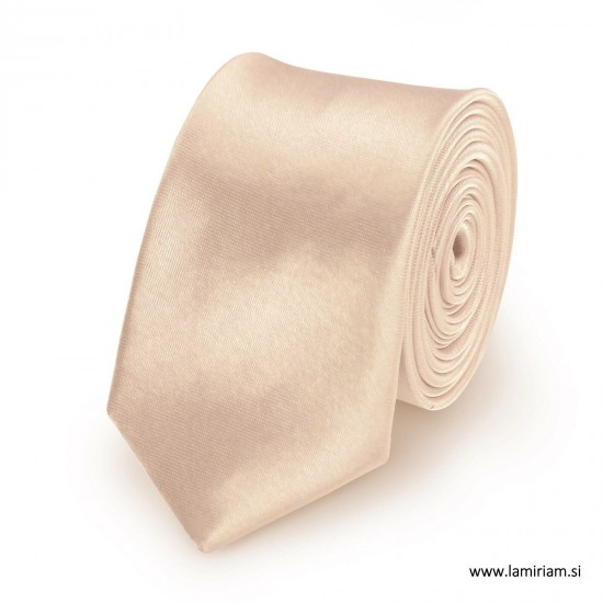 Moška kravata krem-šampanjec KR100