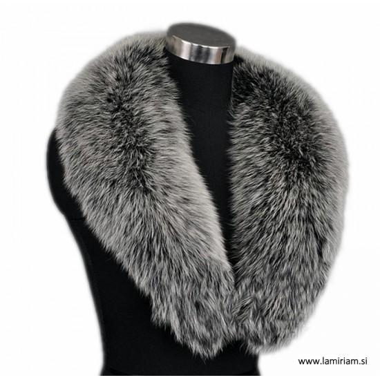 Krzneni ovratnik srebrna lisica KO100 Modni krzneni šali in kape