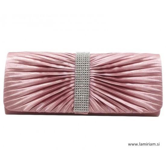 Ženska večerna torbica rose-srebrna kristal T100 Torbice